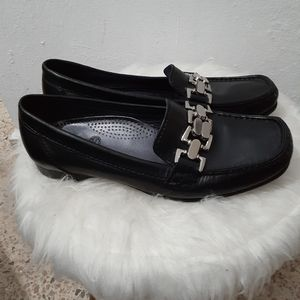 Cole Haan Anjali Black Leather Loafers